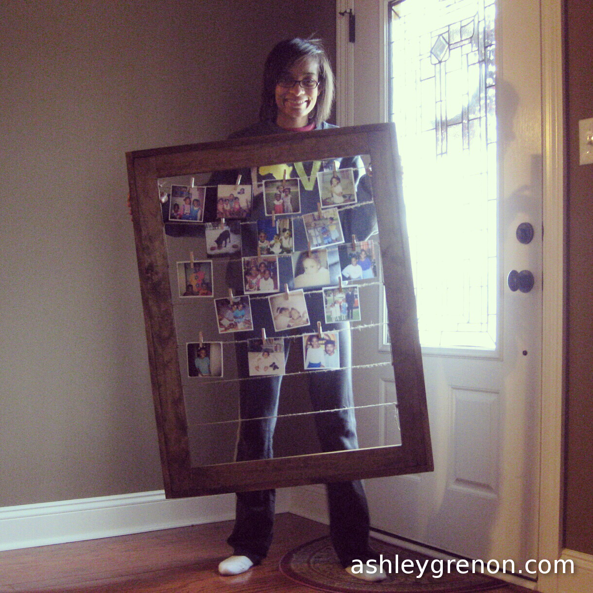 DIY Clothesline Picture Frame (Plans by Ana White) - Handmade with Ashley