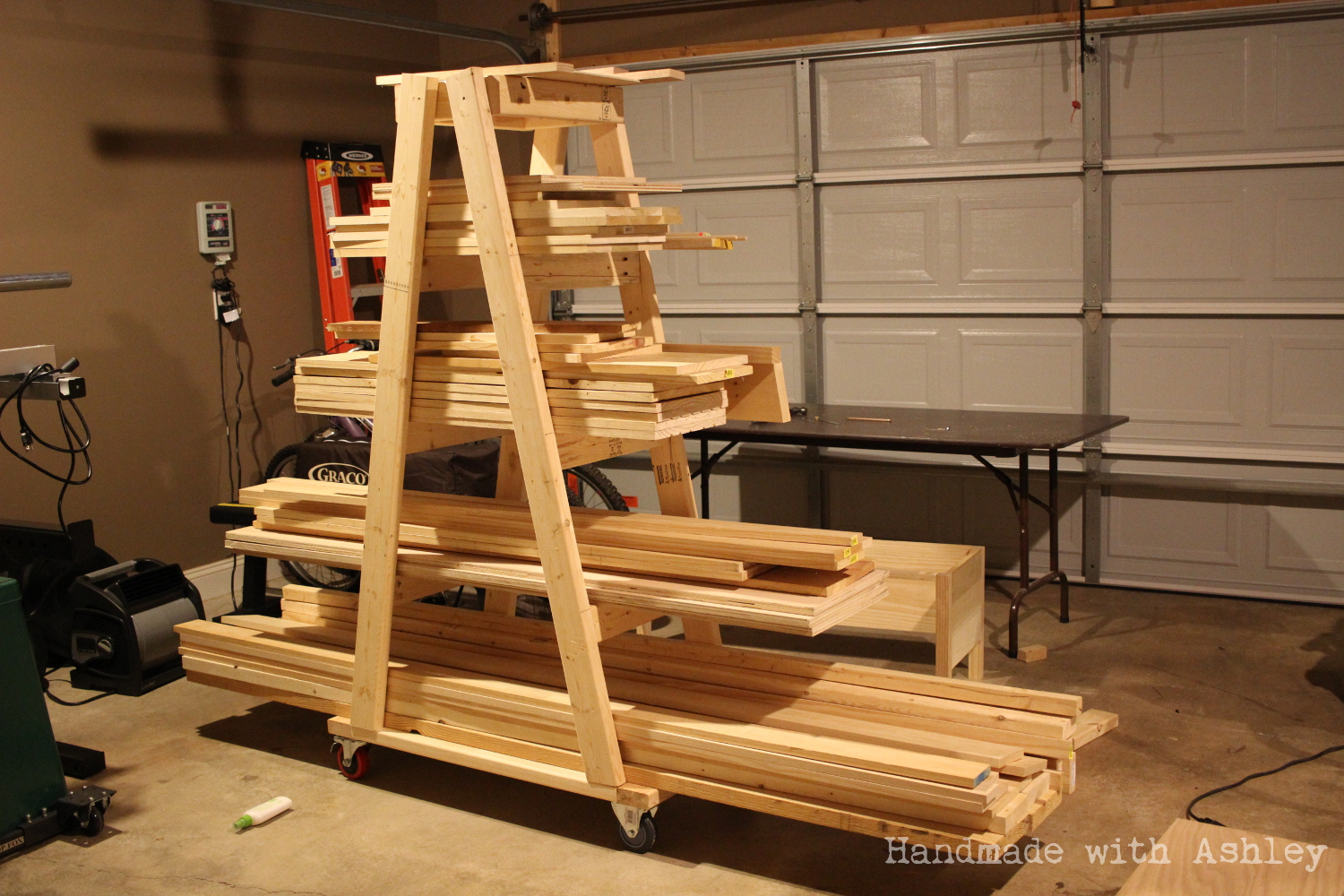 Diy mobile lumber rack plans by rogue engineer for Plan storage racks